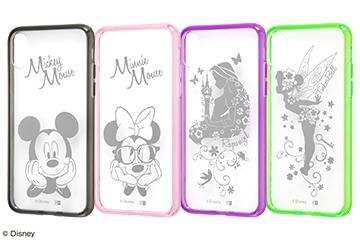 【Apple iPhone X】ディズニーキャラクター/ハイブリッドケース