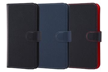 【Apple iPhone XS/X】手帳型ケース シンプル マグネット スリープ機能付き