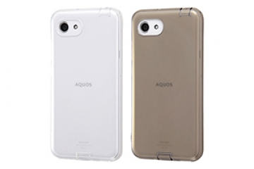 【AQUOS R compact/AQUOS R compact SH-M06】TPUソフトケース コネクタキャップ付き