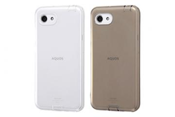 【AQUOS R compact/AQUOS R compact SH-M06】TPUソフトケース コネクタキャップ付き