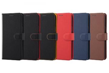 手帳型ケース シンプル マグネット ブラック