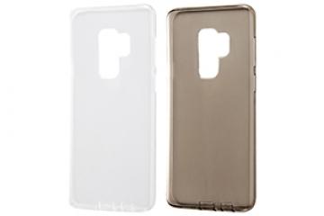 【Galaxy S9+】TPUソフトケース コネクタキャップ付き