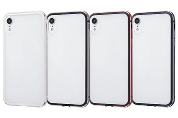 【Apple iPhone XR】アルミバンパー+背面パネル(クリア)