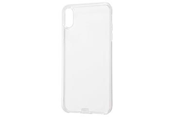 【Apple iPhone XS Max】TPUソフトケース コネクタキャップ付き