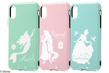 【Apple iPhone XS/X】『ディズニーキャラクター』/TPUソフトケース 耐衝撃 Light Pastel