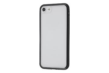 【Apple iPhone 8/iPhone 7】アルミバンパー+背面パネル(クリア)
