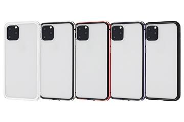【Apple iPhone 11 Pro】アルミバンパー+背面パネル(クリア)