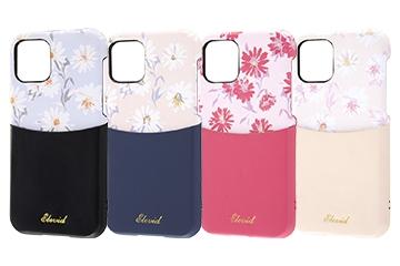 【Apple iPhone 11 Pro】オープンレザーケース 花柄 ICカード対応