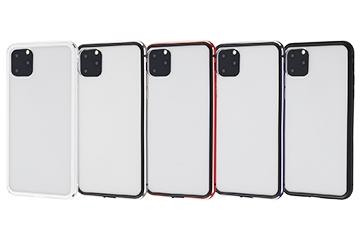 【Apple iPhone 11 Pro Max】アルミバンパー+背面パネル(クリア)