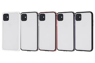 【Apple iPhone 11】アルミバンパー+背面パネル(クリア)