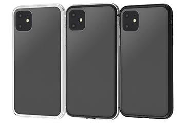 【Apple iPhone 11】アルミバンパー+背面パネル(マットブラック)