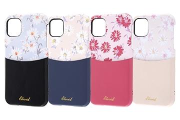 【Apple iPhone 11】オープンレザーケース 花柄 ICカード対応