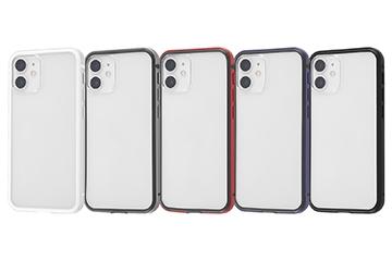【iPhone 12 mini】アルミバンパー+背面パネル(クリア)