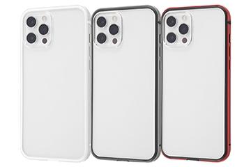 【iPhone 12 Pro Max】アルミバンパー+背面パネル(クリア)
