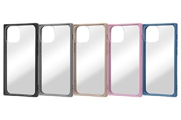 【iPhone 13 mini】耐衝撃ハイブリッドケース Pufful 高硬度 スクエア