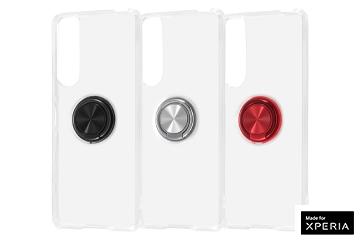 【Xperia 5 III】TPUソフトケース リング付